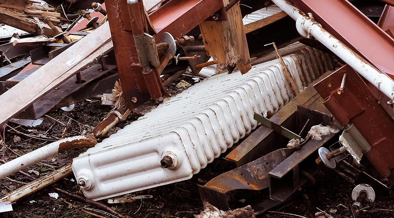 Gestión ambiental de residuos procedentes de instalaciones de calefacción y agua caliente. Radiadores.
